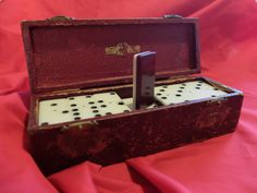 These are genuinely a beautiful set of old dominoes that have a lovely tactile feel rather than newer cheaper sets. They are unusual because of Dinner Party Games, Brass Hinges, Deep Burgundy, Better Day, Red Color, Over The Years, Delicate, Antiques, Handmade