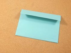 Using regular paper and rubber glue, you can make your own envelopes in almost any size. It's easy - even kids 5 and up can do this (with supervision) - and it's the perfect way to send a handmade card. Lay your card on a piece of 8 1/2 x...