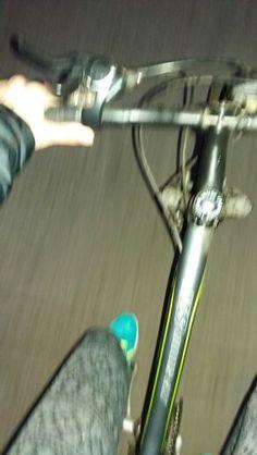 Con lluvia, importa nada <3 Bici