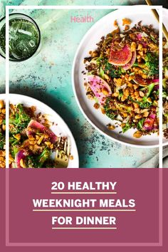 Take back the dinner hour: We've created 20 great-tasting meals with real nutritional punch. These recipes are both high in filling fiber and low in saturated fat. #dinnerideas #dinnerrecipes #healthyeating #whatsfordinner