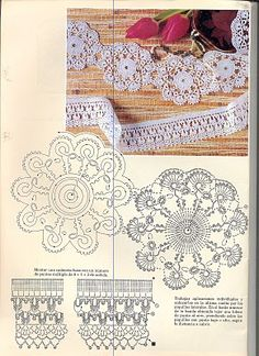 Lace, lace with diagram