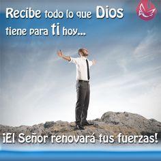 Recibe lo que Dios tiene para ti hoy #Confía #Fe #Esperanza #Dios #Animo #paz #Católico #MensajedelDía #quote