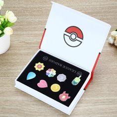 Awesome Pokémon league badges box.