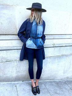 Total look jean Double Denim, Winter Looks, Denim Fashion, Fashion Outfits, Womens Fashion, Outfits Leggins, Leggings Shoes, Look Jean, Estilo Jeans