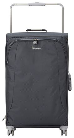 Charcoal Polyester Adjustable IT Luggage World/'s Lightest Small Cabin Holdall