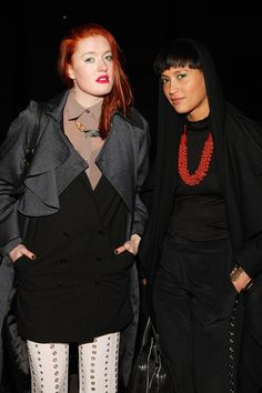 Caroline Hjelt Caroline Hjelt and Aino Jawo of Icona Pop attend the Edun fall 2012 fashion show during Mercedes-Benz Fashion Week at Hudson River Park's Pier 57 on February 12, 2012 in New York City.