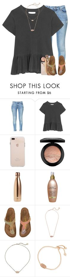 """i could use somebody"" by elizabethannee ❤ liked on Polyvore featuring Zara, The Great, MAC Cosmetics, S'well, Organix, Birkenstock and Kendra Scott"
