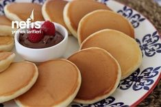 Easy Cooking, Cooking Recipes, Pancake Recipes, Food Porn, Fluffy Pancakes, Turkish Recipes, Yummy Food, Yummy Recipes, Food And Drink