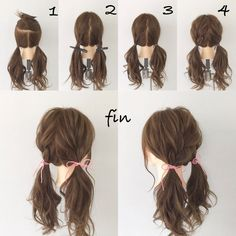 Braids French Coiffures Ideas is part of braids - braids French Braid Hairstyles, Pretty Hairstyles, Easy Hairstyles For Thick Hair, French Braids, Kawaii Hairstyles, Girl Hairstyles, Hair Dos, My Hair, Hair Arrange
