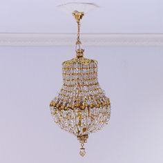 Dollhouse+miniature+handmade+chandelier+light++scale+1:12th+(L135)+