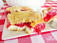 Crescent Cherry Cheesecake Cobbler is layers of crescent rolls, cheesecake and cherry pie filling. Any flavor of pie filling works great. Cherry Desserts, Just Desserts, Delicious Desserts, Yummy Food, Cheesecake Desserts, Sopapilla Cheesecake, Layered Desserts, Cherry Cake, Apple Desserts