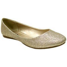 City Classified Scout Vegan Ballerina Flats (champagne glitter) – Alternative Outfitters | Online Vegan Boutique