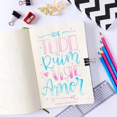 Bullet Journal 2020, Creative Lettering, Lettering Tutorial, Calligraphy Letters, Candy Colors, Typography, Graphic Design, Writing, Words