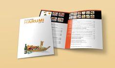 Harumi Sushi Bar Menu, design by Thalia Figueroa, via Behance