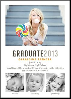 Graduation Announcements - Your Yearbook by Tiny Prints High School Graduation, Graduate School, Graduation Ideas, Graduation 2015, Graduation Cards, Graduation Celebration, Graduation Pictures, Graduation Pose, Graduation Templates