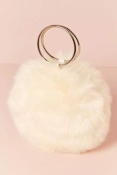 Product Name:Faux Fur Round O-Ring Clutch, Category:ACC_Handbags, Price:19.9