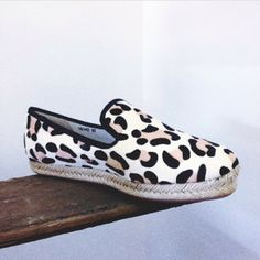 @Gregg Pack Molly III White Leopard Pony Flats $199. PRE ORDER NOW! Arriving this February! #senso #leopard #shop #new #fashion #designer #design...