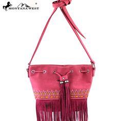 Montana West MW195-8111 Fringe Messenger Bag
