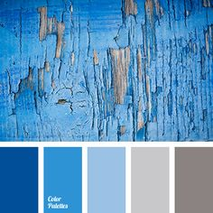 Weathered Blue Paint