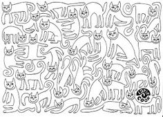 Cat Count And Color LarieCook Banner Larie Cook Kleurplaten