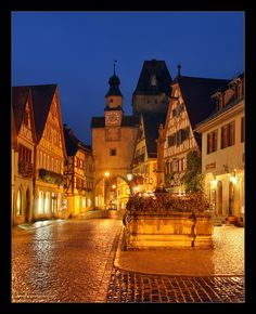 Rothenburg o.d.T.: the Gates by Nightcitylights.deviantart.com on @deviantART