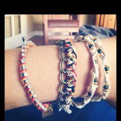 My DIY bracelets