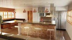 Cocinas de estilo moderno por A4D Arquitetos https://www.homify.com.mx/libros_de_ideas/2619413/33-ideas-fantasticas-para-revestir-las-paredes-de-tu-casa