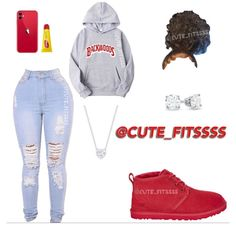 Cute Lazy Outfits, Baddie Outfits Casual, Swag Outfits For Girls, Cute Outfits For School, Teenage Girl Outfits, Cute Swag Outfits, Teenager Outfits, Retro Outfits, Trendy Outfits