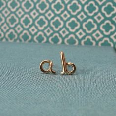 Custom Initial posts in 14k Gold Filledany by Laladesignstudio, $22.00