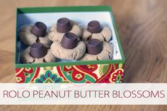 Dress up your peanut butter blossom cookies with Rolos instead of Kisses! {101 Days of Christmas at lifeyourway.net}
