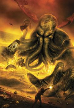 Original cover artwork by Vincent Chong for World War Cthulhu: A Collection of Lovecraftian War Stories: