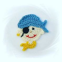 This item is unavailable crochet applique pirate application patches by SavoeDesign on Etsy The Effective Pictures We Offer You About Crochet videos A quality picture. Crochet Pillow, Crochet Motif, Crochet Doilies, Crochet Flowers, Crochet Appliques, Crochet Crafts, Easy Crochet, Crochet Toys, Crochet Projects