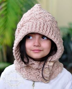 Hooded Cowl Pattern via Craftsy