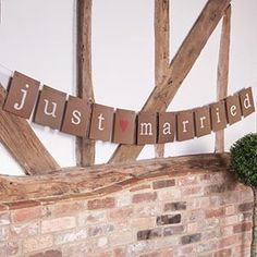 Just Married Brown Paper Bunting - The Wedding of My Dreams