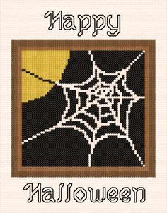 Happy Halloween - Halloween cross stitch pattern.