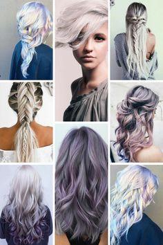Envie folle : des cheveux bleu-gris
