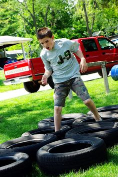 Great activity for an Army Camouflage Party. Boot Camp Fun!