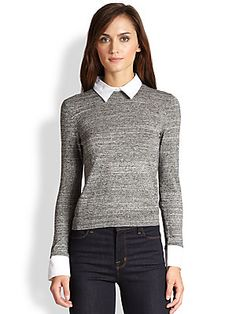 Alice   Olivia Convertible Wool/Cotton Pullover
