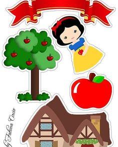 ▷ @toppers_de_bolo - Toppers de Bolo e Doces - Topper de Bolo Tema: Branca de Neve Gostou de algum ? Diy And Crafts, Crafts For Kids, Paper Crafts, Snow White Characters, Snow White Cake, Disney Activities, Snow White Birthday, Paper Dolls Printable, Quilling Patterns