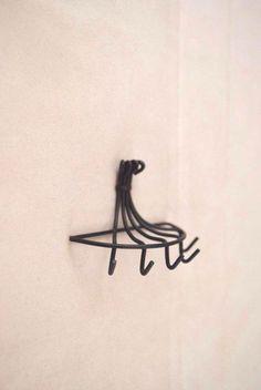 Pot Hanger / Metal Rack - 1/12 scale S8364 dollhouse miniature #TownsquareMiniature