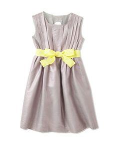 kicokids Girl's Pleated Dress with Tie at MYHABIT