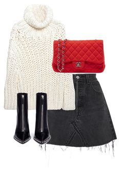 """Untitled #4952"" by theeuropeancloset on Polyvore featuring RE/DONE, MM6 Maison Margiela, Chanel and Alexander Wang"