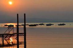 Lake Garda from Camping Piantelle, Moniga del Garda Italy