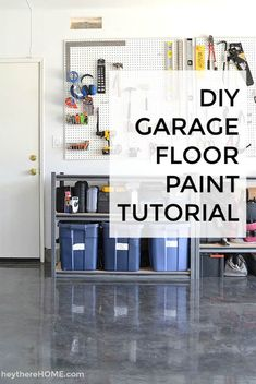 DIY Garage Floor Paint Tutorial: How we used Rustoleum garage floor paint to create a beautiful garage floor coating without hiring anyone! Rustoleum Garage Floor, Garage Floor Paint, Painting Basement Floors, Basement Flooring, Basement Remodeling, Bathroom Remodeling, Home Improvement Projects, Home Projects, Ideas