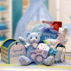 A Special Delivery New Baby Gift Set - Blue for Baby Boy