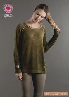 reversible softness: this pulli have dobleface! lässiger Kaschmirpulli von Herzensangelegenheit
