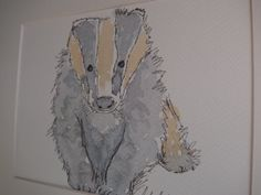 I think this would be perfect as a gift to a newborn! #badger #watercolour #art #painting