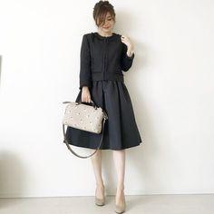 "mana on Instagram: ""#セレモニーコーデ #七五三ママコーデ 💕 今日は息子の七五三の前撮りへ〜📸 私も着物を着て撮って貰います👘 何気に楽しみ💗 * * #七五三ママ コーデ jacket &one-piece #lialapg #liala_fashion @joint_space 👠…"" Latest Fashion Trends, Fashion Tips, Japanese Fashion, Work Wear, Vogue, Dresses For Work, Chic, Womens Fashion, How To Wear"