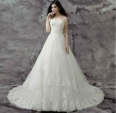 White Detouchable Strap Lace Ball Gown Turkish Wedding Dresses Easebuy! Free Measurement