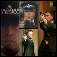 Daniel Craig and Javier Bardem... with guns.